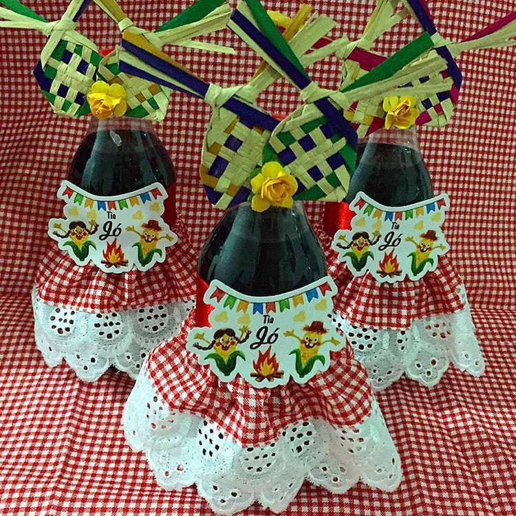 E as mini cocas de vestidinho! #festajunina