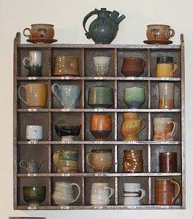 Elegantly Simple Cubbyhole Storage. Do You Display Your Coffee Mugs Or Tuck  Them Away In