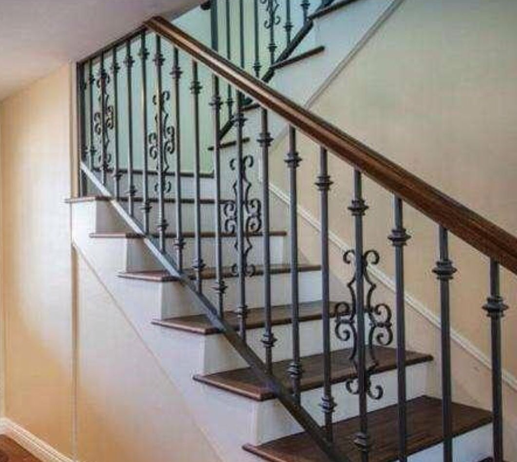 Love the simple rustic iron staircase | Staircases | Pinterest ...