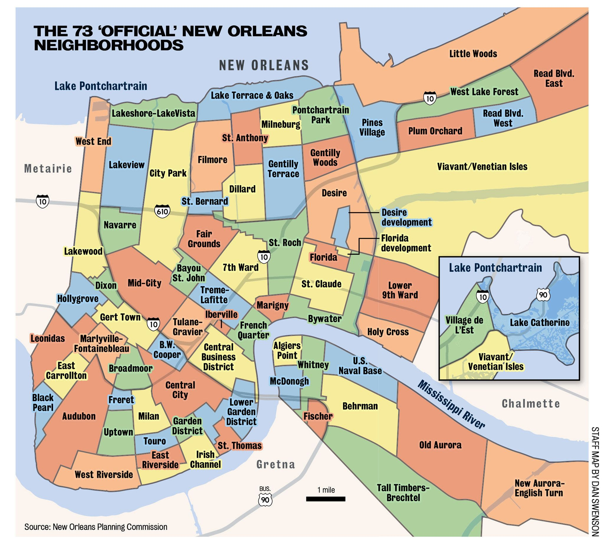 districts of new orleans map Where Y At Good Question A History Of New Orleans Neighborhoods districts of new orleans map