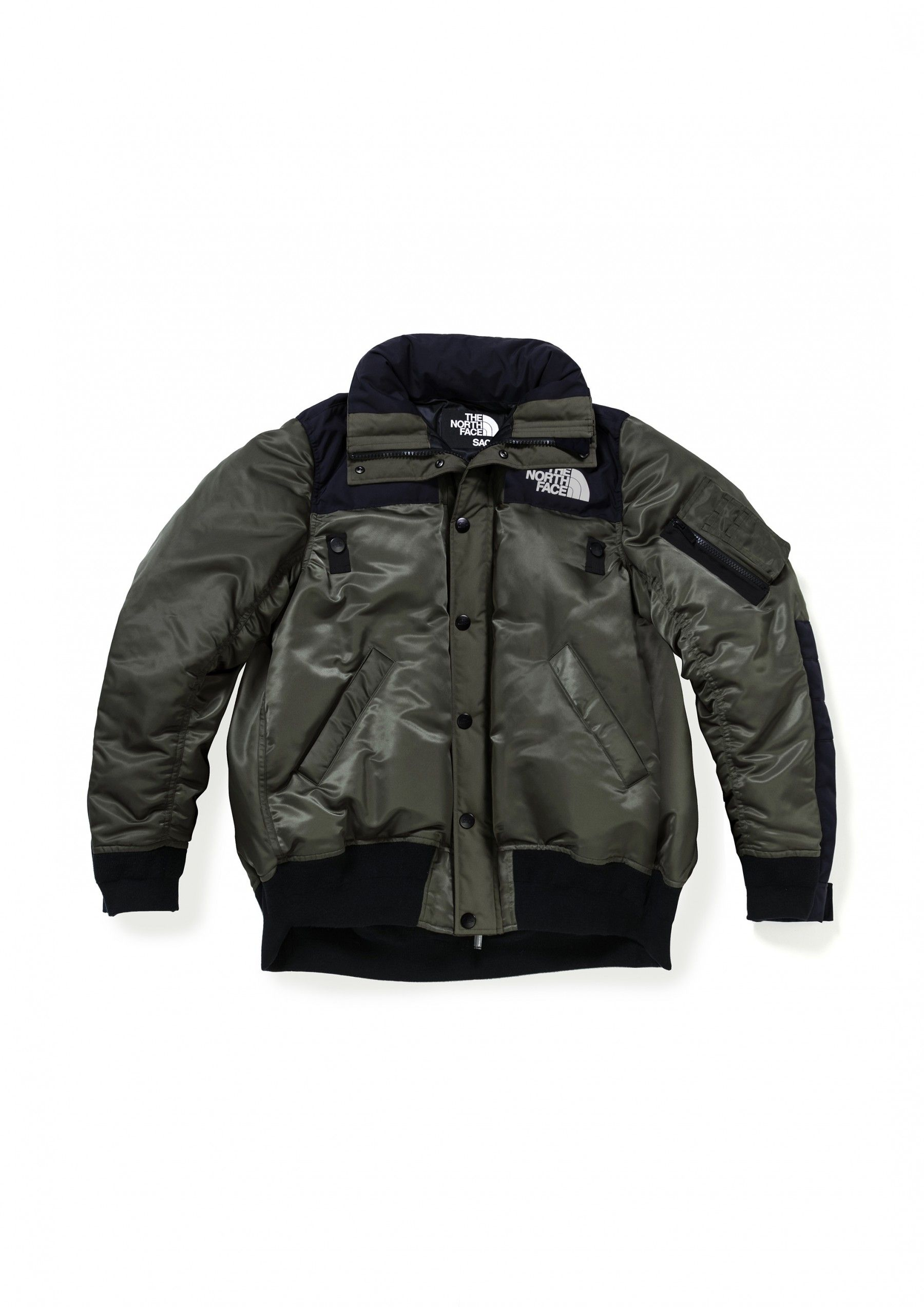 264aebdee Sacai x The North Face Men's Bomber Jacket (Khaki) | Gorpcore ...