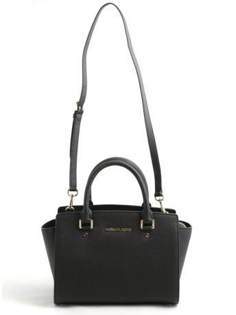 Michael Kors-selma medium satchel bag black-borsa nera selma medium-Michael Kors 2014 shop online