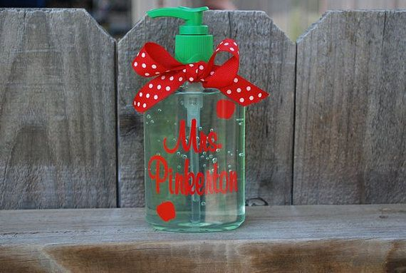 Personalized Hand Sanitizer Teacher Gift Teacher Gifts