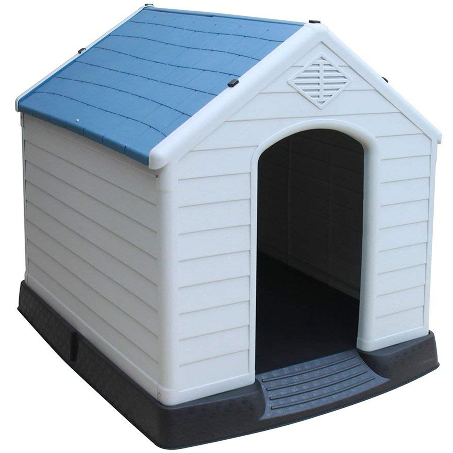Sengu Plastic Dog House Waterproof Indoor And Outdoor Pet Shelter