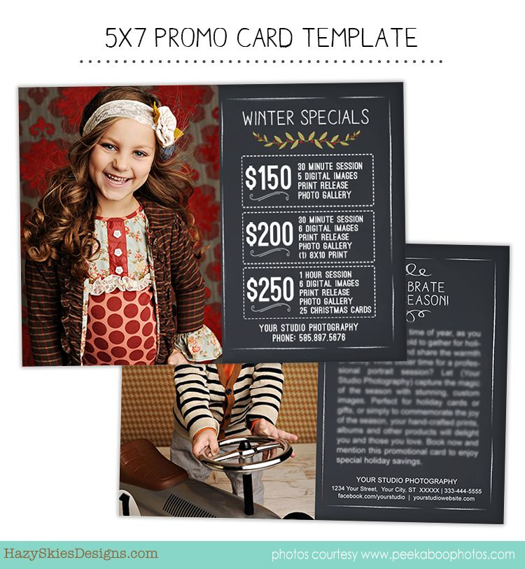 Promo Marketing Card Template Photography Tips, Props,  Tools