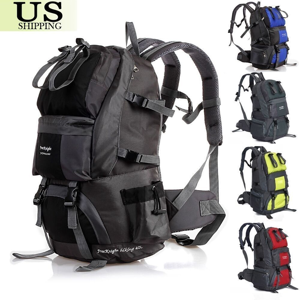 40/50L Outdoor Backpack Hiking Bag Camping Travel Waterproof Pack ...