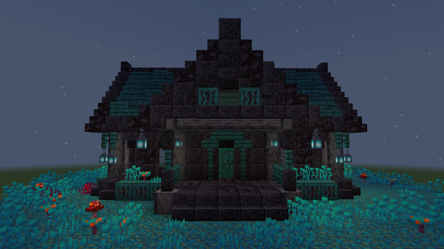 Photo of Spooky house with 1.16 blocks
