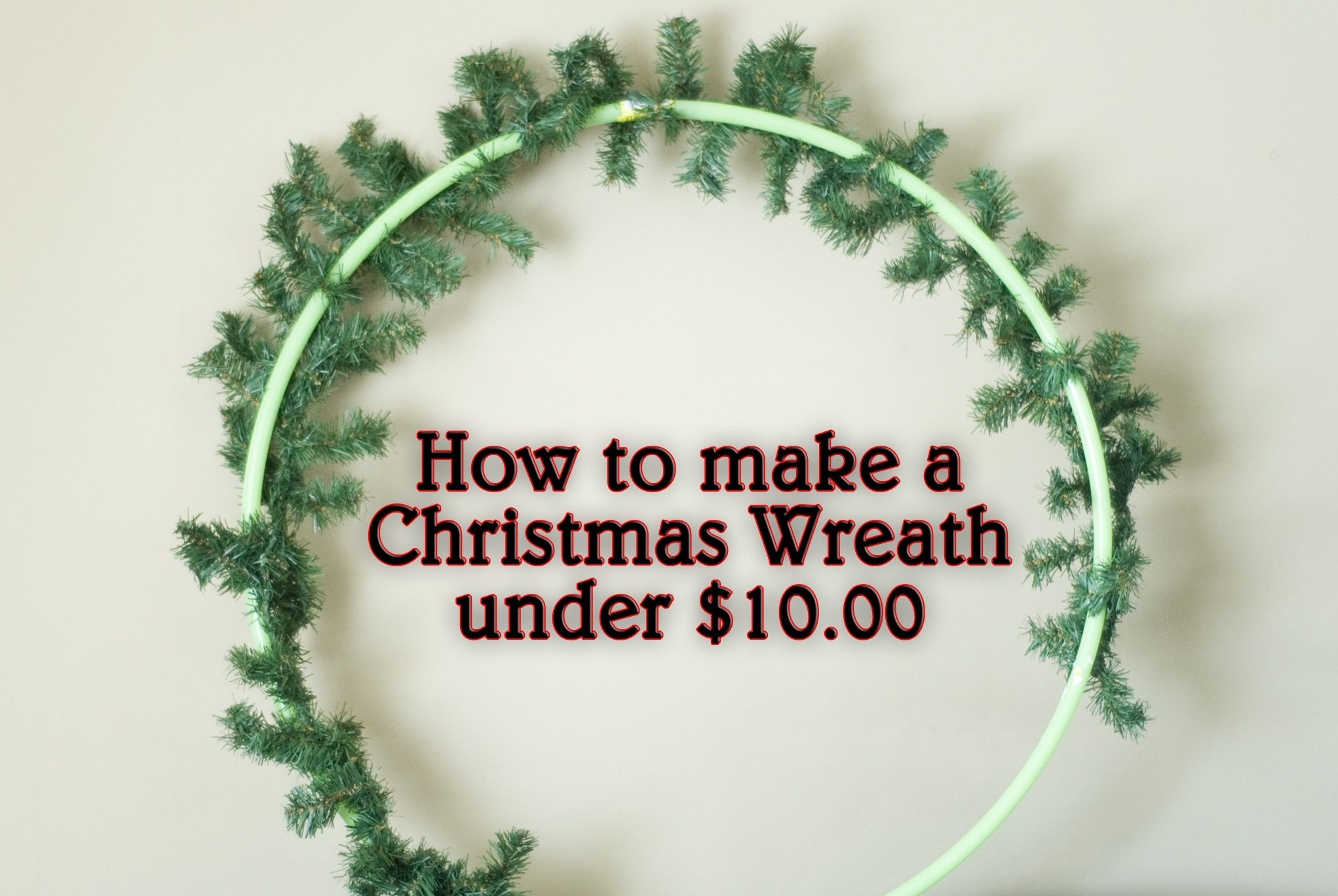 How To Make A Giant Wreath For Under 10 00 Giants Wreath Wreaths Christmas Wreaths To Make