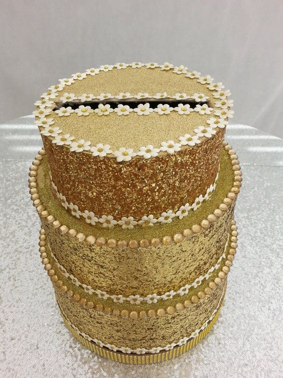Gold Wedding Card Post Box Cake Birthday By Tootiefruitiecutie
