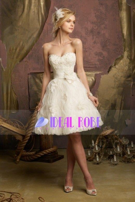 2013 #Robes #de #mariée #court  – http://www.idealrobe.fr/robe-de-mariée/courte-mini