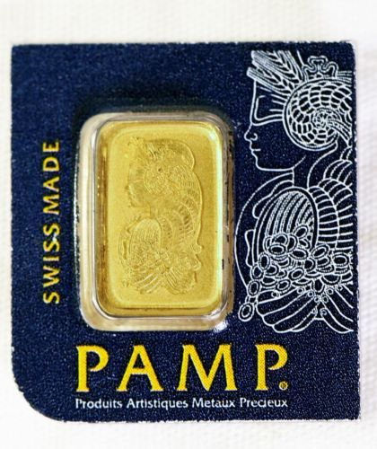 1 Gram Pure Fine Gold 24k 999 9 Bar Pamp Suisse On Small Card Small Cards Pure Products Gold Money