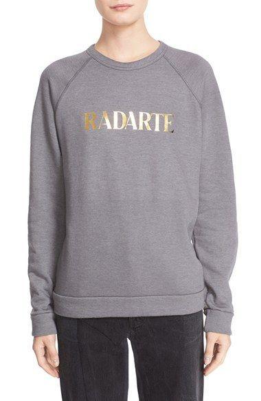 Rodarte 'Radarte' Foil Sweatshirt