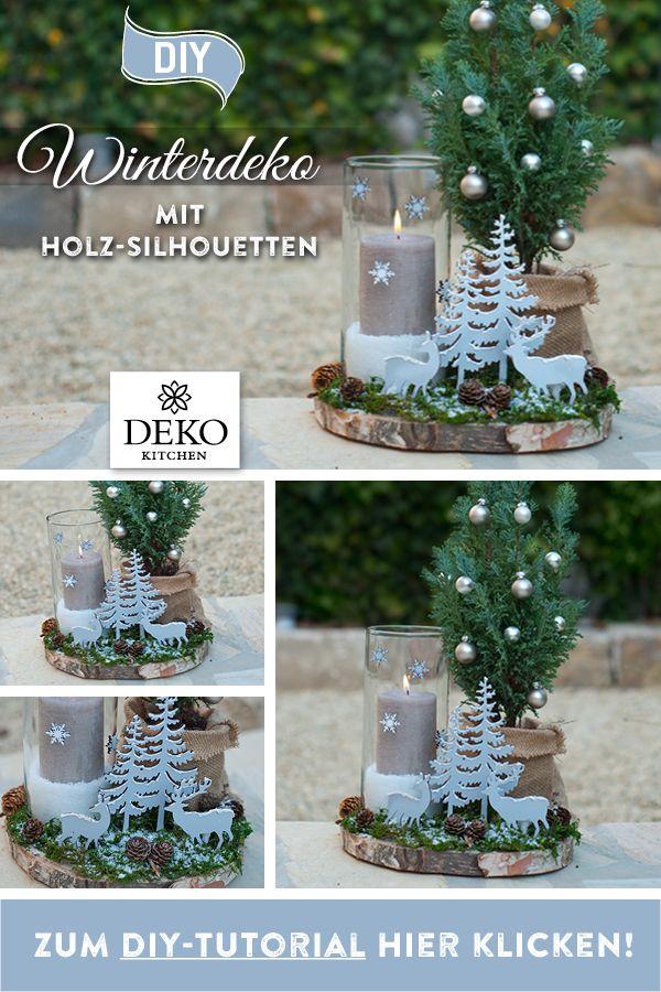 DIY: hübsche Winterdeko für den Tisch #dekoweihnachtentisch