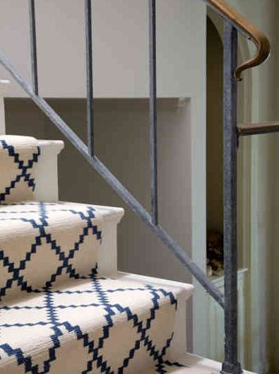 You Could Also Paint The Stairs And Put A Carpet Runner Down The | Stairs With Carpet In The Middle | Runner Corner | Laminate | Contemporary | Run On Stair | Marble