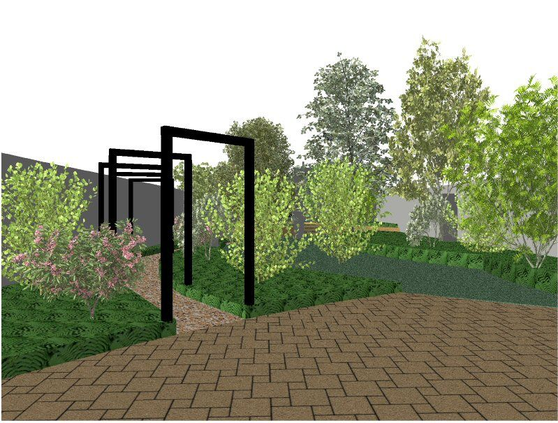 The Build For This Long Narrow Garden In Woking Surrey Has Just Started And It Demonstrates Some In 2020 Narrow Garden Landscape Design Software Garden Design Plans
