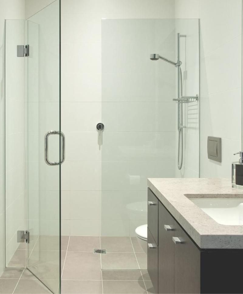 Elegant 10 Mm Frameless Shower Screen   Front Only With Double Infill