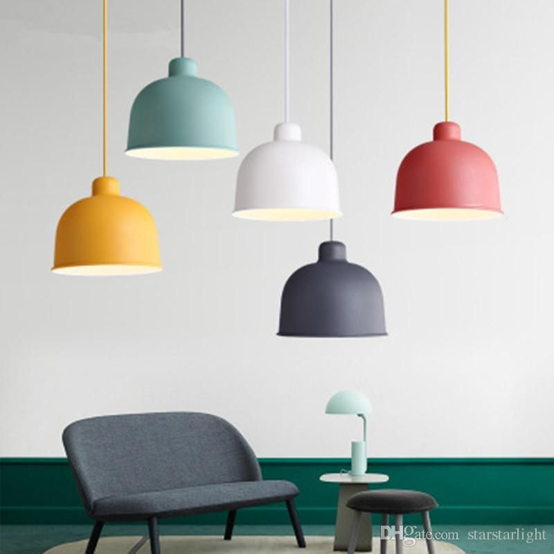 Nordic Pendant Lamp Macaron Simple Creative Restaurant Lamp Living Room Dining Room Bar Cafe Bed Living Room Pendant Light Dining Room Bar Multi Light Pendant