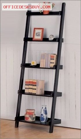 Merlin Bookshelf In Black Http Officedesksbuy Com Merlin Bookshelf In Black Html Rustic Ladder Decor Home Office Furniture Leaning Bookcase