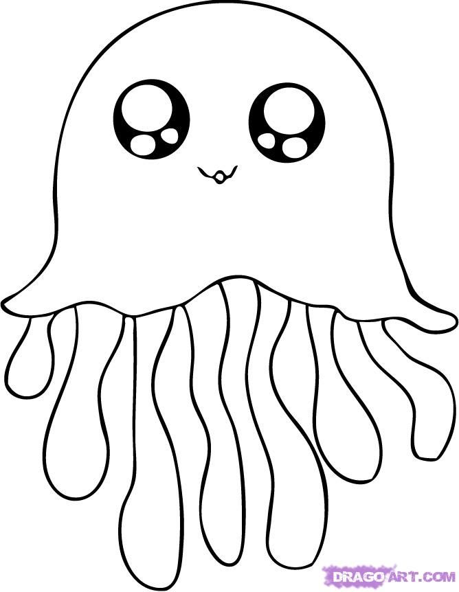 Image Of View Full Size More Cute Jellyfish Coloring Pages Are 668x862