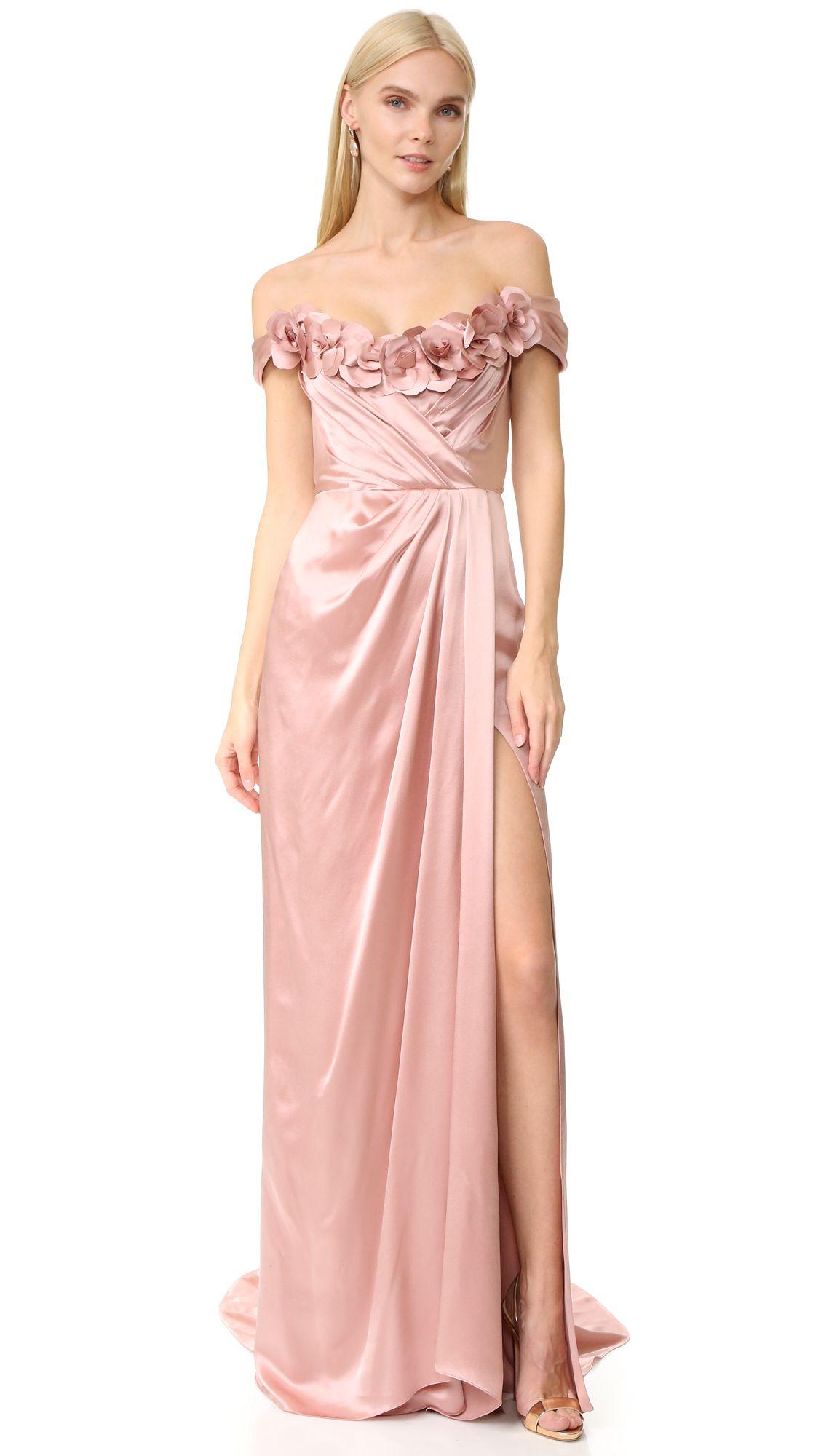 Marchesa Satin Gown   Detalii Couture   Pinterest   Moda rosada ...