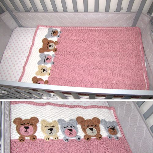 Project bycraftymom05This crochet pattern is available from Ravelry... Full Post:Sleep Tight Teddy Bear Blanket