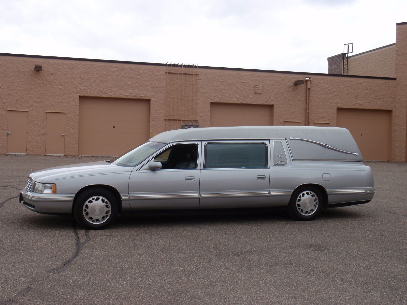 Blue 1998 cadillac deville superior statesman hearse funeral coach for sale