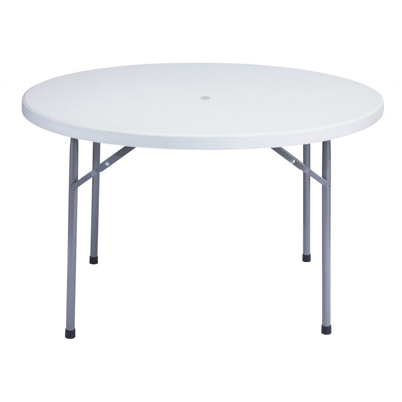 48 Round Plastic Folding Table With Umbrella Hole Classic Series Round Folding Table Folding Table Lightweight Folding Table