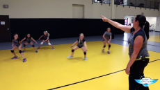 Warmup Drill To Teach Fast Footwork Coaching Volleyball Volleyball Drills Volleyball Workouts