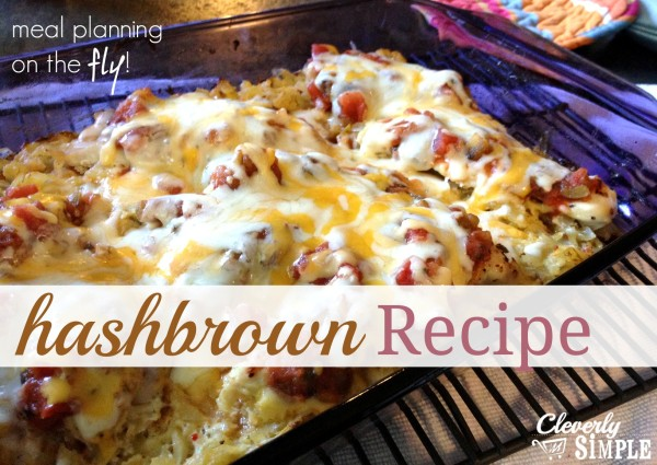 Hashbrown Recipe using one pan!  Easy clean up and delicious!