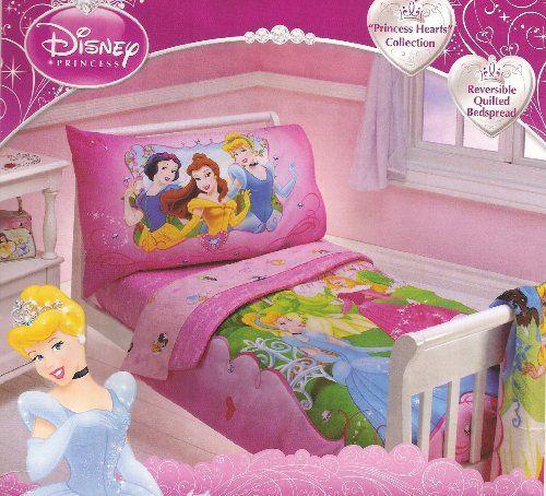 Baby Child Disney Princess 4 Piece Toddler Bedding Set Features