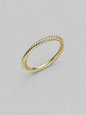 648c94e221333 David Yurman slim cable ring. Overly simple and perfect. My Birthday ...