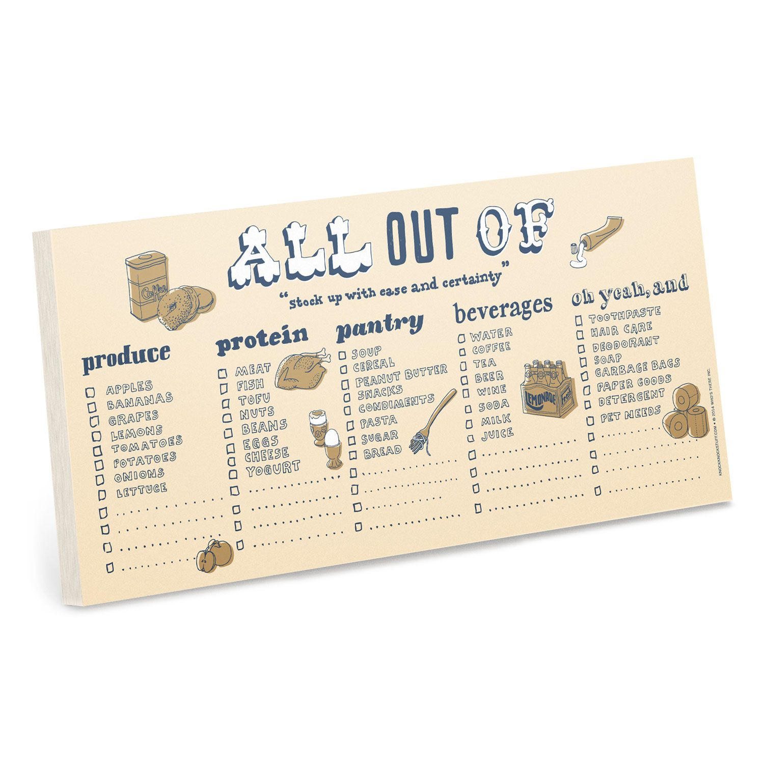 Knock Knock Notepads to do lists grocery lists and honey do lists— Knock Knock pads are fun desk accessories cool office supplies and stationery
