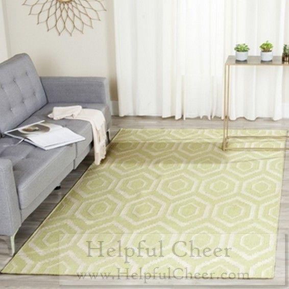 Safavieh Hand-woven Moroccan Reversible Dhurrie Green Wool Rug 10 x27 x 14 x27 -