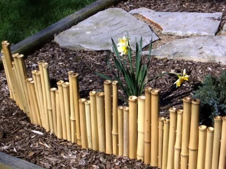 Bamboo Borders Add A Natural Simple Touch To Any Garden Comment
