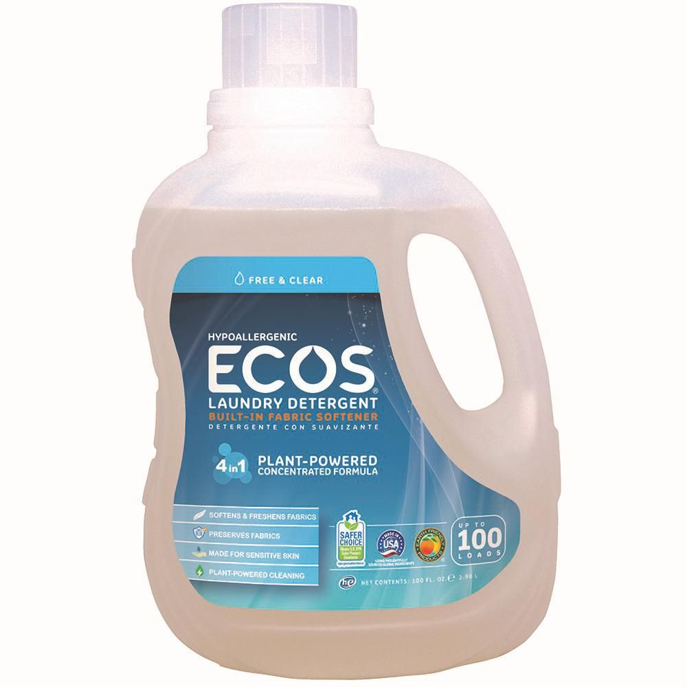 Ecos 100 Oz Free And Clear Liquid Laundry Detergent Liquid