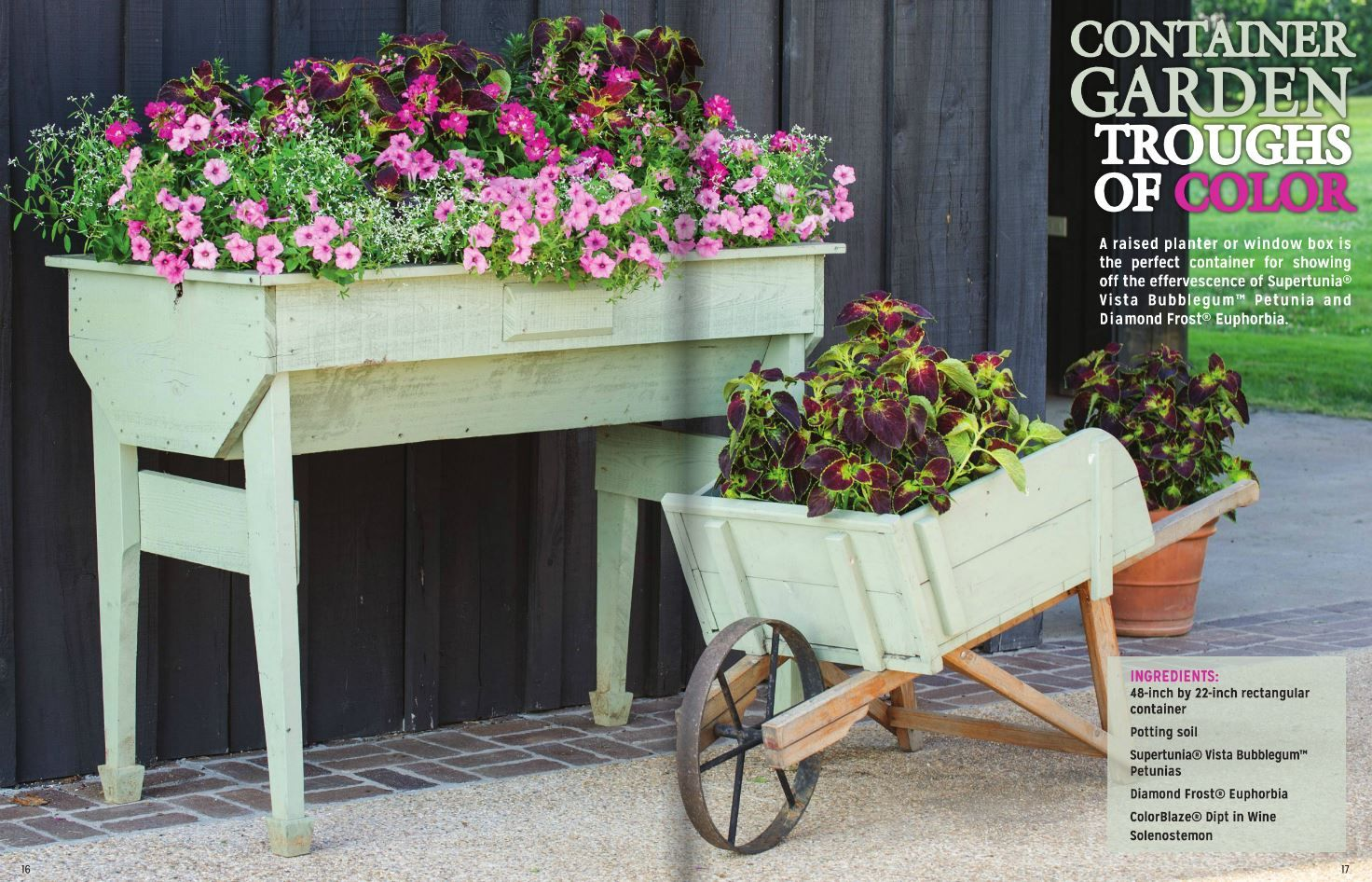 Wheelbarrow Plant Stand Garden Troughs Smith Gardens Garden Projects