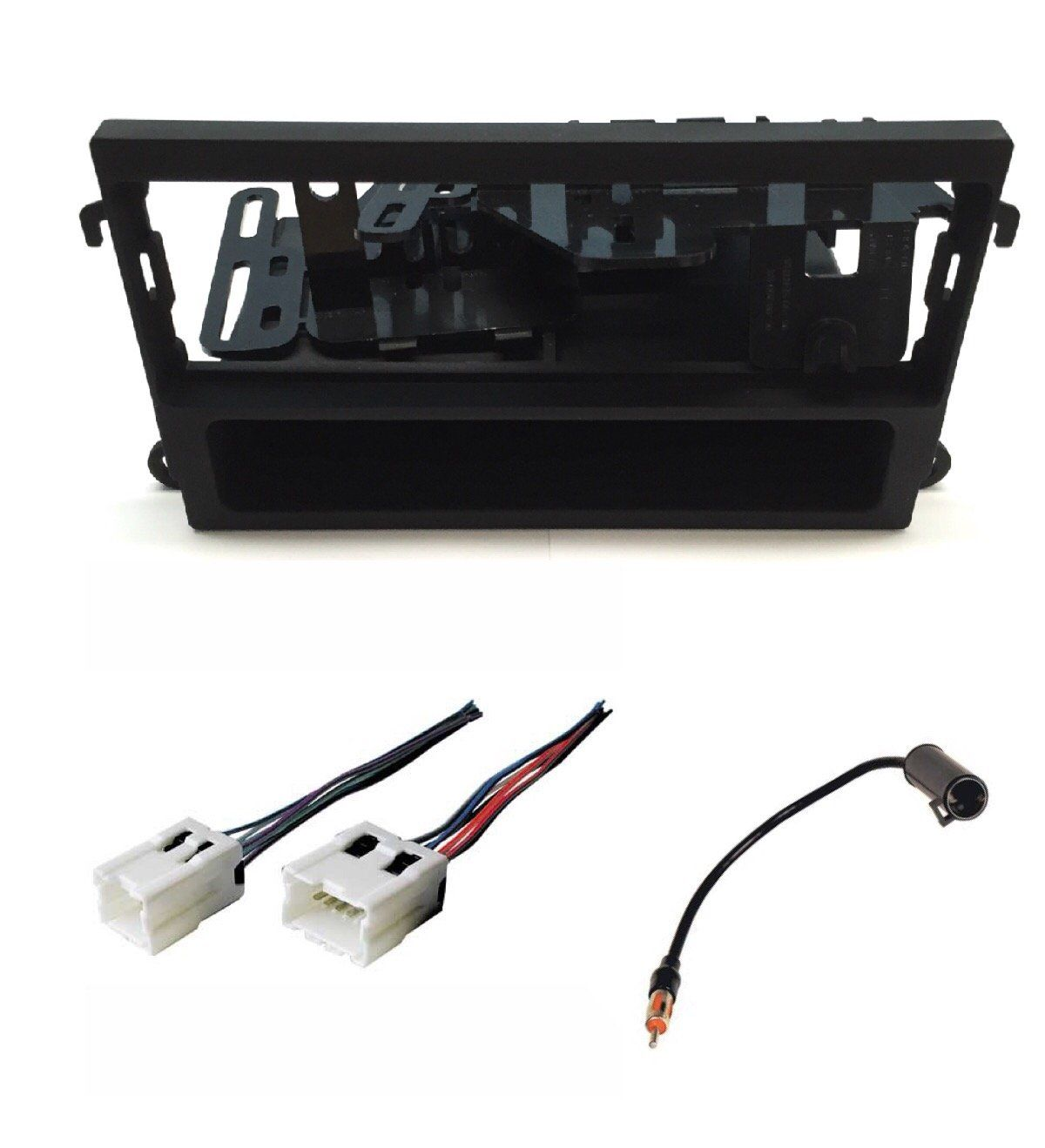 ASC Audio Car Stereo Dash Kit, Wire Harness, and Antenna