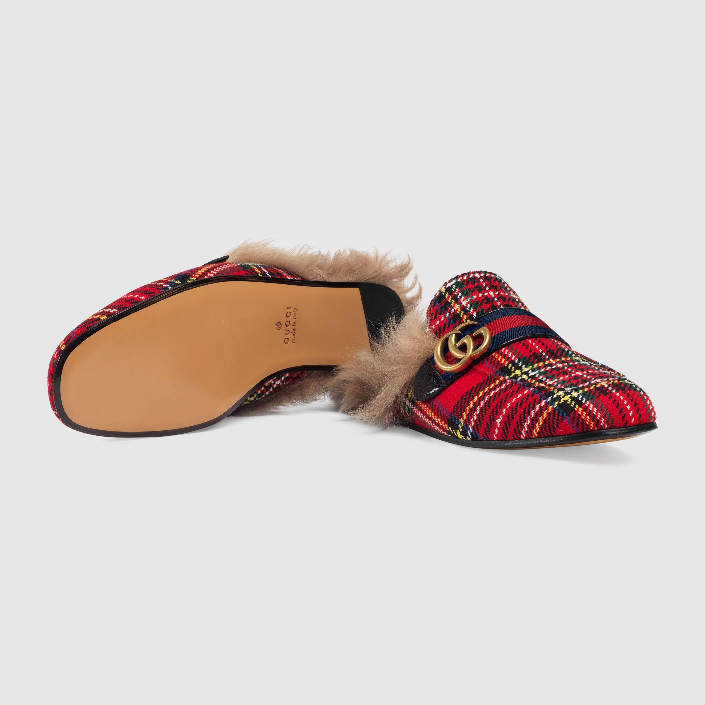 Gucci Princetown tartan slipper with