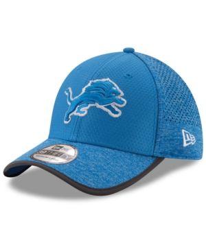 buy popular 0ccf0 6018c New Era Detroit Lions Training 39THIRTY Cap - Blue S M