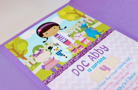 Girl Toy Doctor Invitations-SET OF 10 on Etsy, $30.00