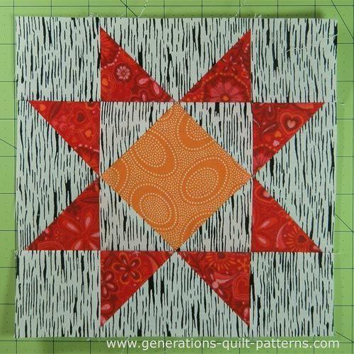 Crystal Star Quilt Block Tutorial: Instructions for 5 block sizes ... : star quilt patterns instructions - Adamdwight.com