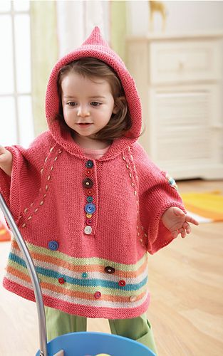 Hooded Poncho Pattern By Bernat Design Studio Baby Things