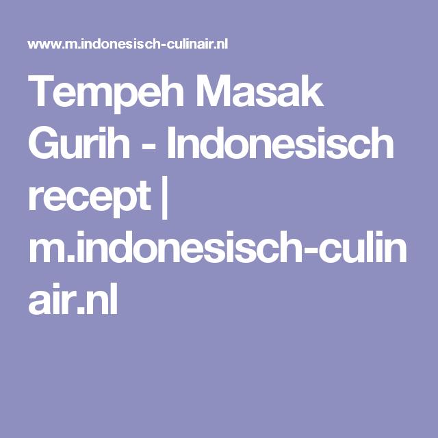 Tempeh Masak Gurih - Indonesisch recept | m.indonesisch-culinair.nl