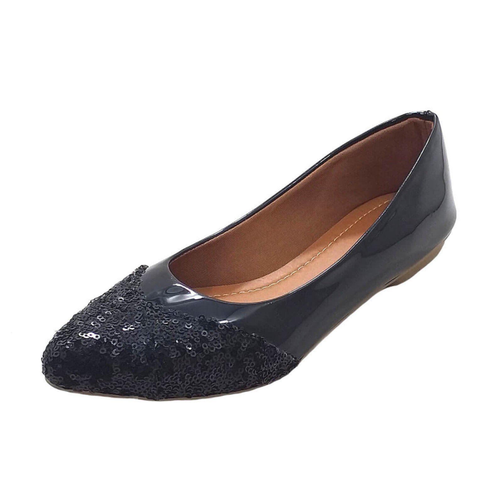 Sapatilha Maisapato Verniz Preto Preto Sapatilhas Sapatos E Preto