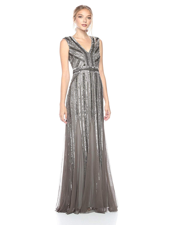 Adrianna Papell Women S Beaded Long Dress Long Dress Dresses Formal Dresses Long