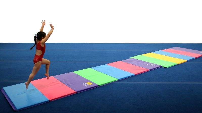 With Velcro connections on the ends, you can connect multiple mats together for a full tumbling surface.