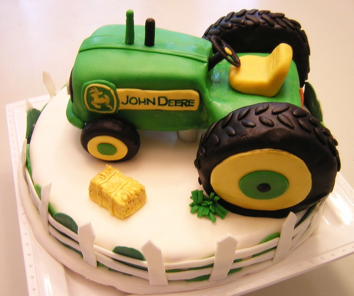 Happy 2nd Birthday Ethan This Was A Cake For He Loves Tractors So His Mom Leslie Asked Me To Make 3 D Tractor Ev