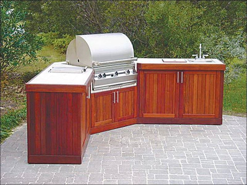 Outdoor kitchen islands are custom built and shipped to the ...