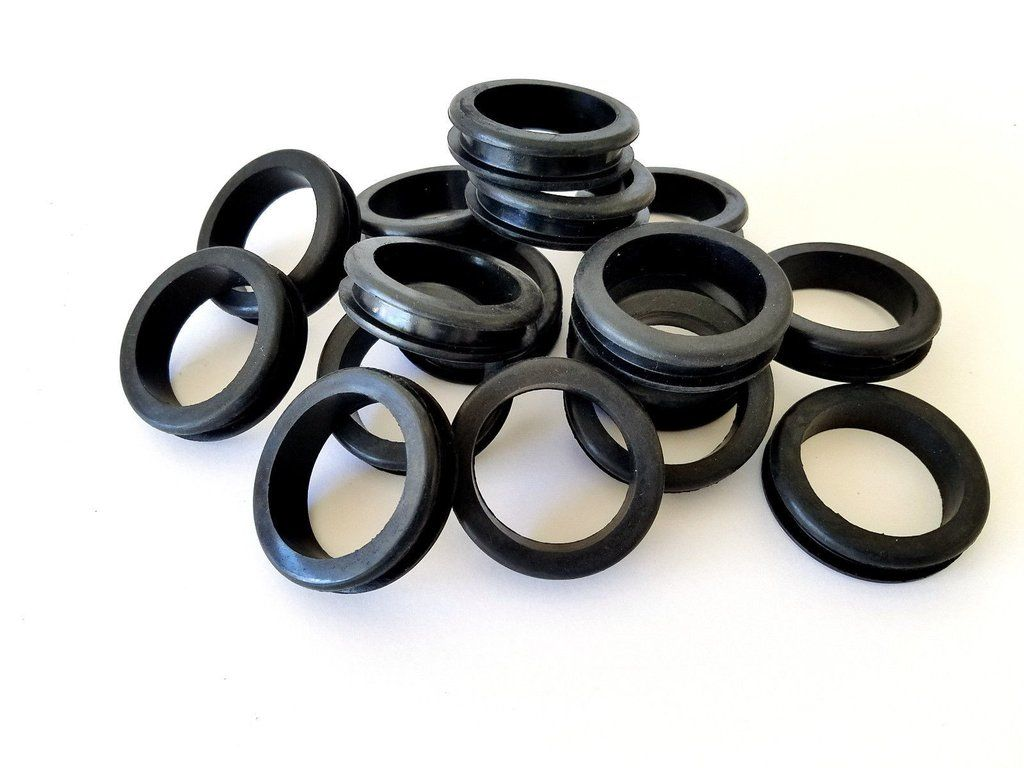 Lot Of 16 Large Rubber Grommets 1 5 1 1 2 Inches Inside Diameter Rubber Grommets Grommets Cane Tips