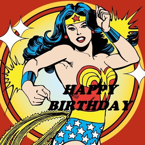 Mulhermaravilha Superwoman Happybirthday Wonder Woman Comic
